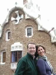 tim and me at Gaudi's Guell Park